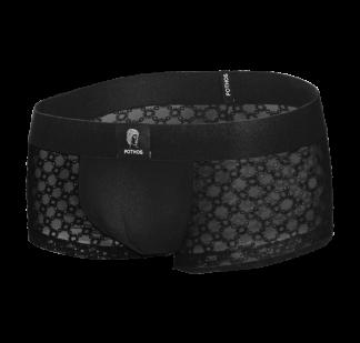 boxer bordado transparente underwear de luxo - boxer e brief